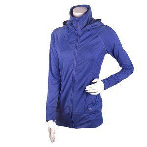 MPG Hooded Zipper Jacket Blue Sz XS